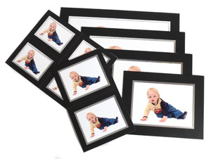 Photo Mounts - Black Strut