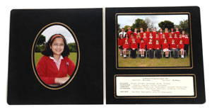 Combination Folder Mount for Individual and group photos